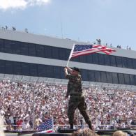 Flag Waving at Dover International Speedway