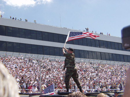 [Image: Flag Waving at Dover International Speedway]