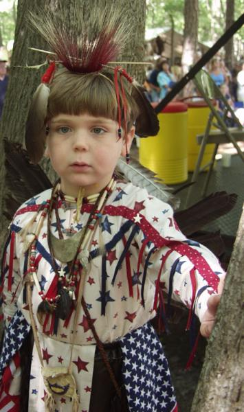 [Image: Young Boy at Pow-Wow]